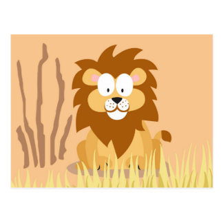 Lion from my world animals serie postcard