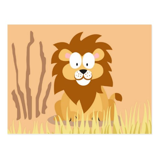 Lion from my world animals serie post card