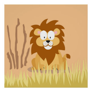 Lion from my world animals serie print