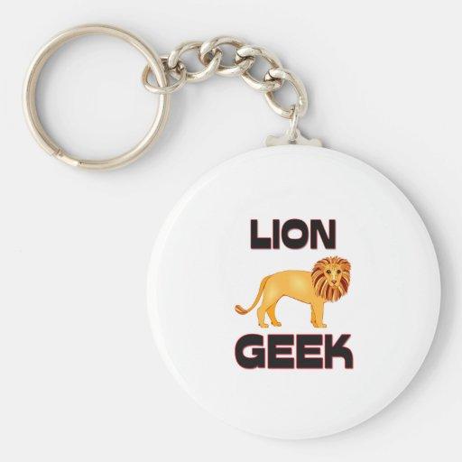 Lion Geek Keychain