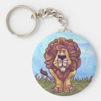 Lion Gifts & Accessories Basic Round Button Key Ring