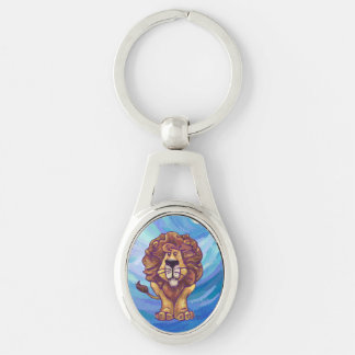 Lion Gifts & Accessories Silver-Colored Oval Key Ring