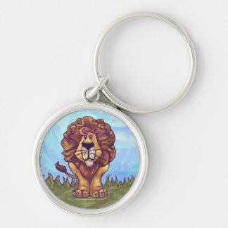 Lion Gifts & Accessories Silver-Colored Round Key Ring