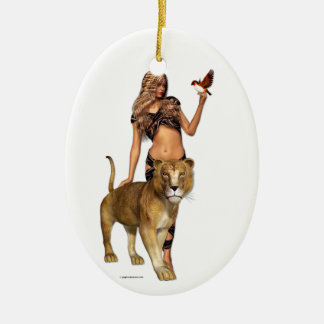 Lion Girl Christmas Ornament