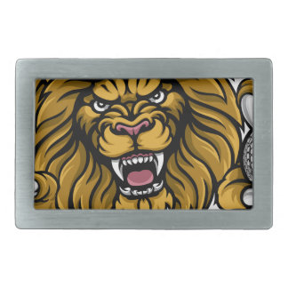 Lion Golf Ball Sports Mascot Belt Buckles