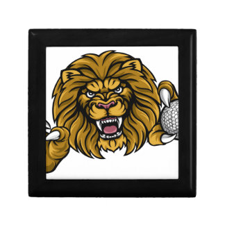 Lion Golf Ball Sports Mascot Gift Box