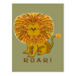 Lion Greeting Cards Postcard