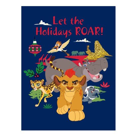 Lion Guard   Let The Holidays Roar Postcard