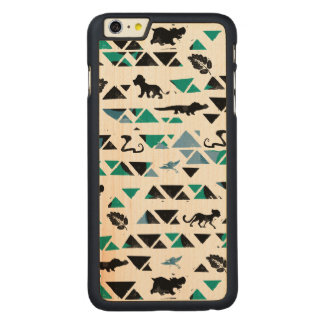Lion Guard | Mosaic Pattern Carved Maple iPhone 6 Plus Case