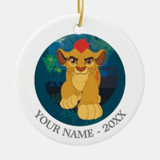 Lion Guard | Simba Add Your Name Round Ceramic Decoration