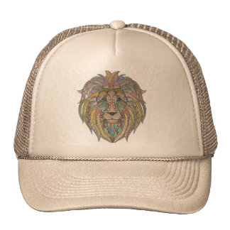 Lion Hand Colored Trucker Hat