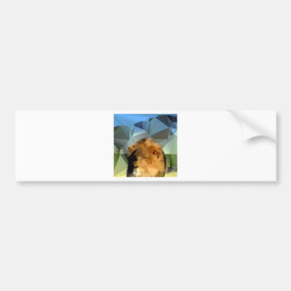 Lion Head African Theme Low Poly Bumper Sticker