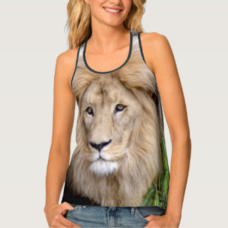 Lion Head All Over Print Top