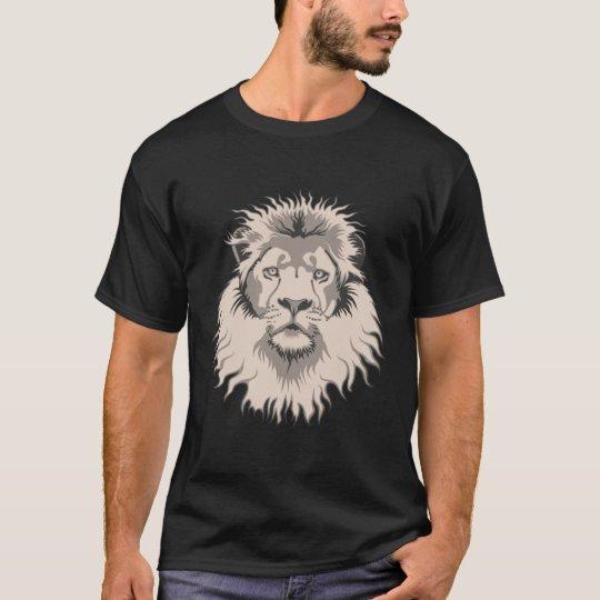 Lion Head Basic Black T-Shirt