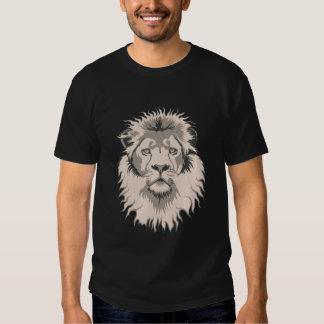Lion Head Basic Black Tee Shirts