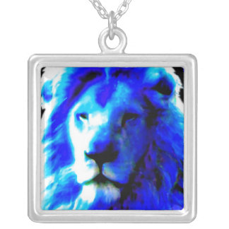 Lion Head Blue necklace