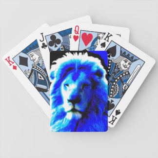 Lion Head Blue playing cards