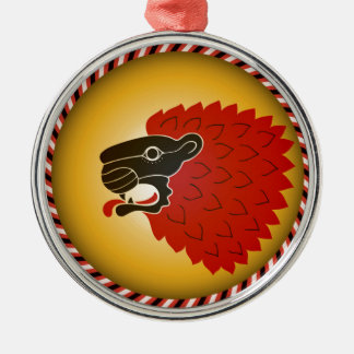 Lion head christmas ornament