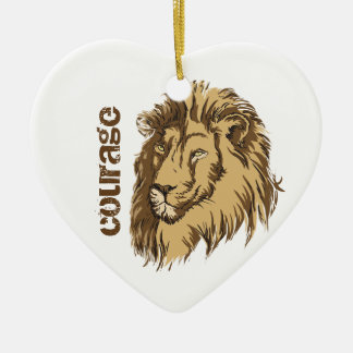 Lion head custom Courage custom ornament