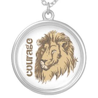 Lion head custom Courage custom silver pendant