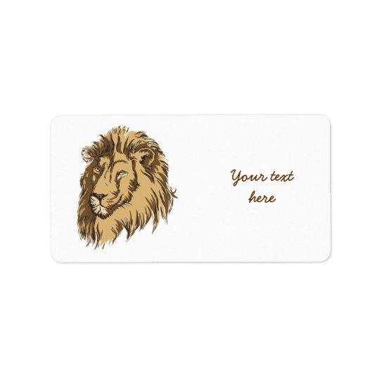 Lion head custom custom label