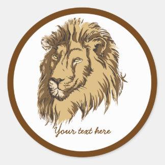 Lion head custom sticker