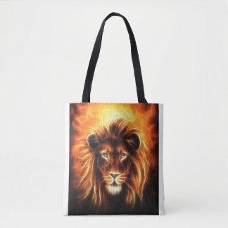 Lion Head Design Tote Bag