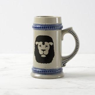 Lion head face coffee mug