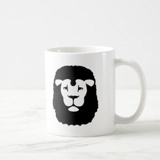Lion head face mugs