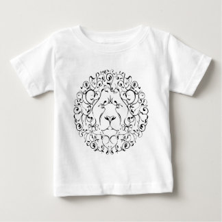 lion head leaf mystical magical circle design baby T-Shirt