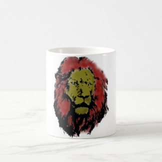 Lion head lion head basic white mug