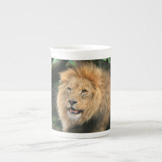 Lion head male beautiful photo bone china mug