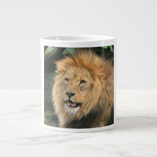 Lion head male beautiful photo jumbo mug
