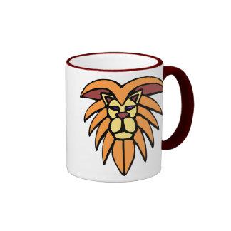 Lion Head Necktie Ringer Mug