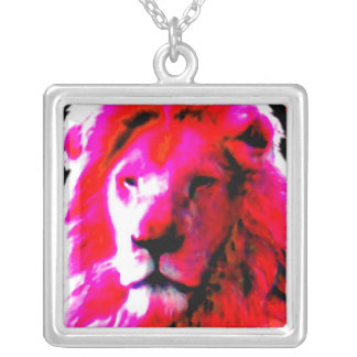 Lion Head Pink necklace