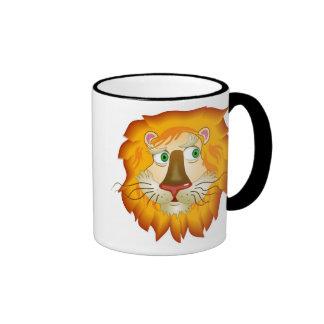 Lion Head Ringer Mug