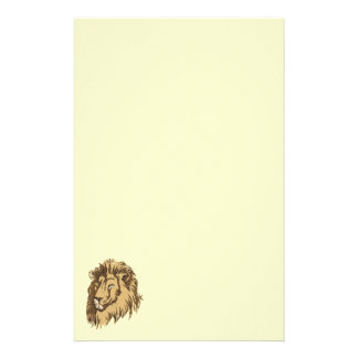Lion head stationery