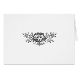 Lion Head Stationery Note Card