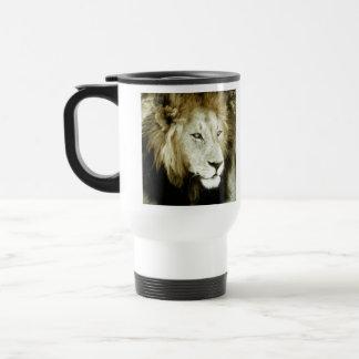 Lion Head Study Stainless Steel Travel Mug