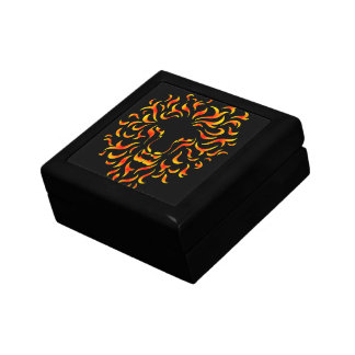 Lion Head with ethnic fire colors. M1. Gift Box