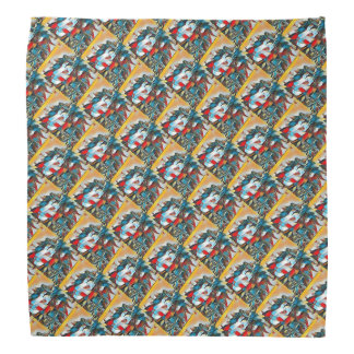 Lion Heads Jazzy Patterned Bandana
