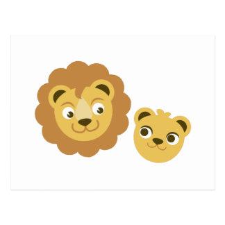 Lion Heads Postcard