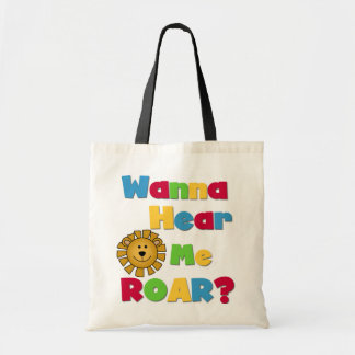 Lion Hear Me Roar T-shirts and Gifts Budget Tote Bag