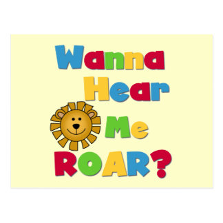 Lion Hear Me Roar T-shirts and Gifts Post Card