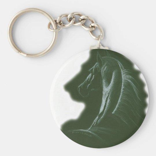 Lion Heart Basic Round Button Key Ring
