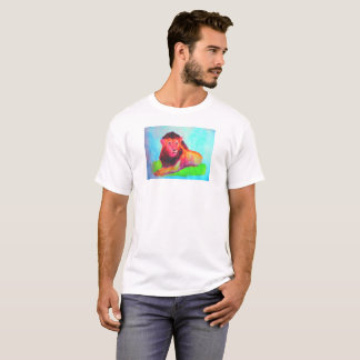 Lion Heart - Colorful Abstract Wild Animal Big Cat T-Shirt