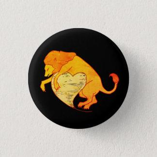 Lion Heart (Orange) 3 Cm Round Badge