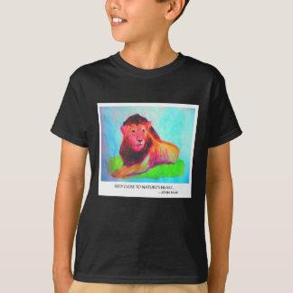 Lion Heart - Wild Animal Conservation John Muir T-Shirt