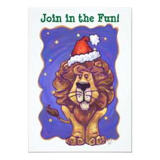 Lion Holiday Party Invite