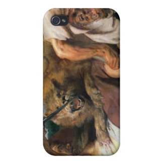 Lion Hunt, detail of two men and a lion, 1621 iPhone 4/4S Cover